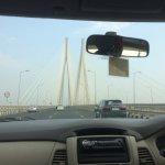 Approaching larger bridge span