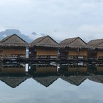 floating huts