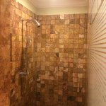 Golden Swim Up Bathroom (shower with double shower head)