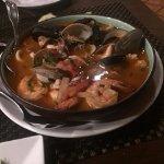 Parihuela. Seafood soup.