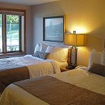 Motel Room with (2) Extra Long Double Beds