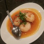 sweet and sticky shrimp, not very good