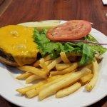 A cheese burger