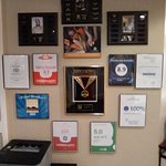 Our award wall.