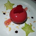 Romantic dinner dessert