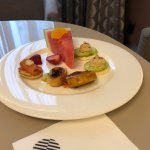 canapes in the Executive Lounge