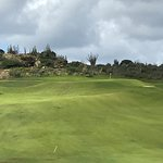 Hole 15 par 4 second shot into steep uphill and narrow green