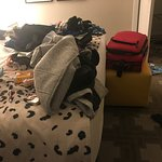 The below pictures shows the mess after a break in to the room