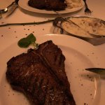 Porterhouse steak near, (24oz), Rib eye far (180z), Smashed Potatos !