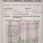 shuttle time table