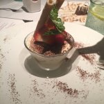 Tiramisu; it was mouth-watering.