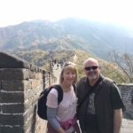 Enjoying a walk on The Great Wall