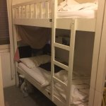 5footway.innProjectChinatown1 Flimsy ladder on bunk bed made for children, used for adults