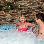 Hot tub in the Aztec Falls pool