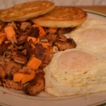 Southern Sweet Potato Hash and Eggs