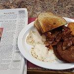 Eggs OE and Crispy Bacon & Sausage