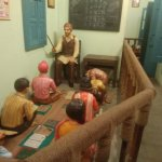 A class room model as it was some fifty years back.