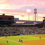 beautiful sunset during game