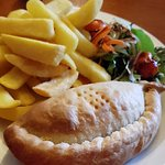Cornish Pasty and Chips