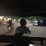 The free tuk-tuk rides to/from town were handy