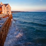 Sea view of Godolphin Arms Terrace & Restaurant
