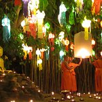 procession during Loy Krathong festival