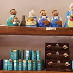 Grandmother figurines and chocolate boxes