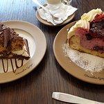 Dulce de leche torte and Frutos del Bosque mousse cake