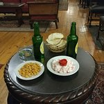Great lounge, cheap beer, tasty snacks, retro technology