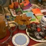 Saturday Afternoon Tea at Wedgwood Inn of New Hope. Hot Wassail. Chocolate Brownies. Pumpkin Spi