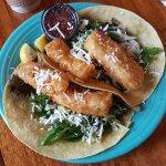 Wasabi Fish Tacos.