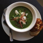 Spinach and goats cheese soup