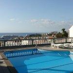 small pool area overlooking Funchal Bay