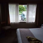Rooms on the first floor feel like rooms from a highway motel as they provide parking lot view