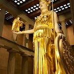 Athena statue inside the Parthenon