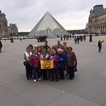 The group at the Louvre.