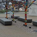 Painted Trees on Figge Museum Plaza