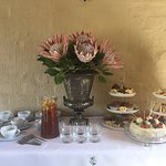 Homemade cakes and savouries at Afternoon High Tea