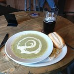 Superb soup and Hooky Mild - a perfect combination