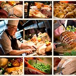 Our carvery is served daily and our meats are roasted for 14 hours to ensure succulence!