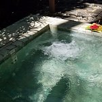 our private outdoor whirlpool tub