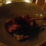 rib of pork with green beans