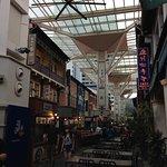 food stalls under giant fans