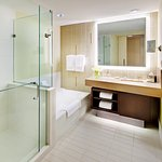 All rooms have separate shower and bath