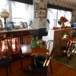 The breakfast nook was light and airy, plenty of natural lighting, inviting guests to socialize.