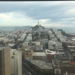 Lobby and Room View of Coit Tower and Alcatraz