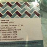 Carte de l'hôtel avec ses coordonnées