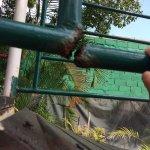 El area de juegos de los niños, está muy oxidada, es peligrosa. Necesita mantenimiento o cambio