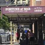 """Entrance to the """"Fortune of War"""" - oldest pub since 1828"""