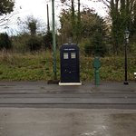 Old police box opposite the tram stop